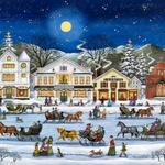 I'm lucky enough to live a few minutes from this picture book town. It's especially fun to visit during Christmas time. The orginal painting can be seen in the window of Wilson's General store on Main Street.
